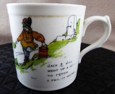 Paragon China Nursery Ware Jack And Jill Mug Signed John Hassall • 40£