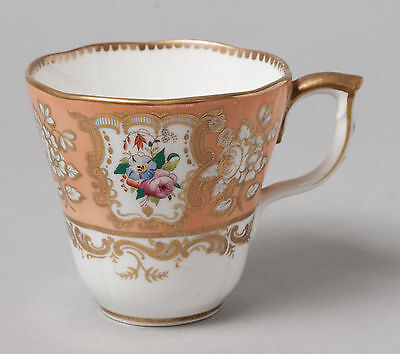 Antique Early 19th Century English Porcelain Teacup Hand Painted With Flowers • 14.99£