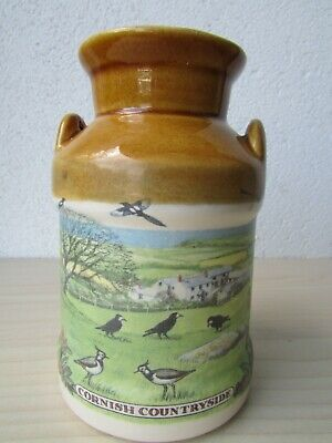Vintage Presingoll Pottery -  Cornish Countryside  - Milk Urn - Made In Cornwall • 14.95£