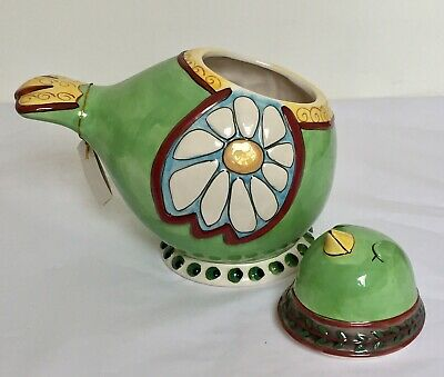Large Majolica Bird Cookie Jar Biscuit Tin Heather Golding Kitchen Storeage • 19.99£