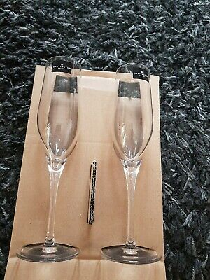 Dartington Crystal Wine Glasses Pair Bnib • 12£