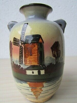 VINTAGE TORQUAY WARE WATCOMBE  HAND DECORATED VASE - 11 Cm TALL. • 19.95£