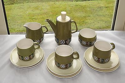 Vintage Retro Carlton Ware Tapestry Pattern Coffee Set 12 Pieces Cups Milk Etc • 18£