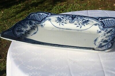 Antique F & Sons Blue Willow Platter 15 By 11 1/8  England Nice • 109.72£