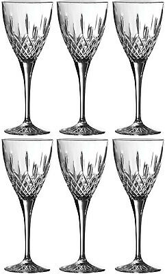 Royal Doulton Crystal Earlswood 6 Wine Goblets (boxed) - New • 49.99£