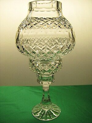 Tyrone Crystal Storm Fairy Hurricane Lamp Light Table Candle Holder • 54.95£