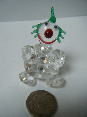 Very Pretty Small  GLASS/CRYSTAL? CLOWN . Excellent Condition. Unboxed. • 9.99£