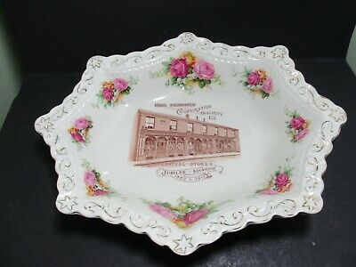 Hyde Equitable Co-operative Society 1912 Jubilee Souvenir Advertising Dish • 48£