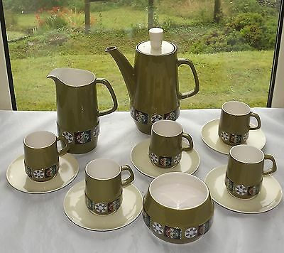 Vintage Retro Carlton Ware Tapestry Pattern Coffee Set 13 Pieces Cups Milk Etc • 22£