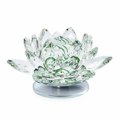 Home Décor Crystal Lotus Flower With Rotating Base Size 10x6 Cm - Multicolour • 9.99£