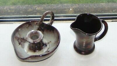 Ewenny Welsh Studio Pottery Wee Willie Winkie Candle Holder And Jug • 10£