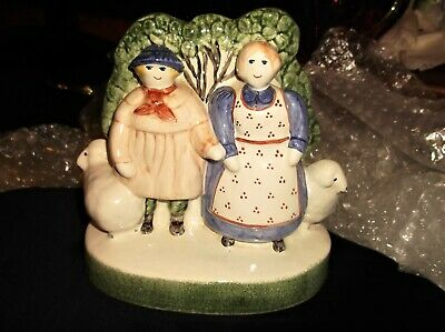 Collectable Figurine Rye Pottery 2000 Shepherd Neame & Wife Of Sussex & Sheep • 90£