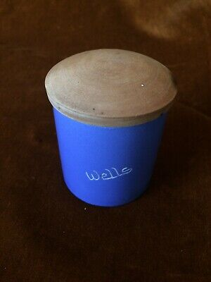Collectors Devon / Cornwall Blue Pottery -- Wells Pot With Lid • 4£