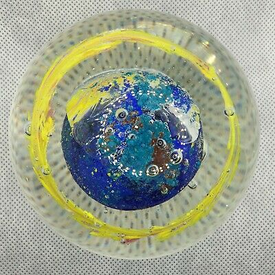 Caithness/Whitefriars Or Similar Glass Paperweight Planet • 25£