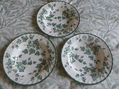 BHS Country Vine Ivy Soup Bowls / Plates  X 3  VGC  • 12£