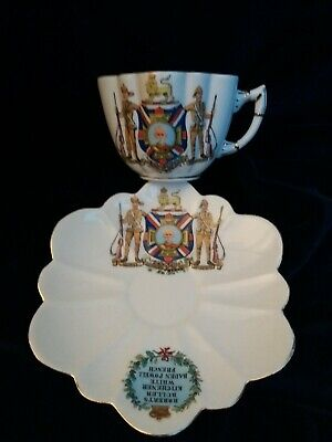 Rare Antique 1902 Boer War, Field Marshal Lord ROBERTS Commemorative Cup &Saucer • 28£