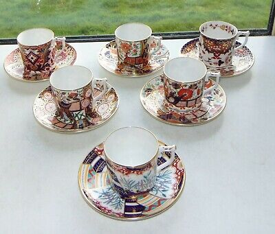 Royal Crown Derby Imari The Curators Collection 6 X Coffee Cups And Saucers  • 195£