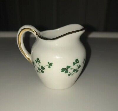 Carrigaline Pottery Small Shamrock Jug & 2 Egg Cup Holders • 15£