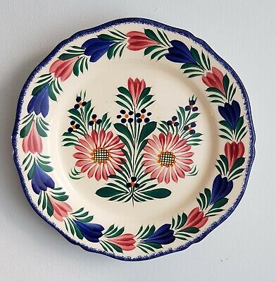 HB Quimper Fluted Wall Plate Fleuri Pattern  • 14.99£