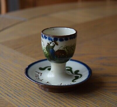 Watcombe Pottery Egg Cup And Saucer • 6£