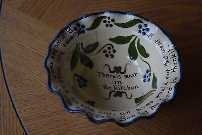 Vintage Watcombe Pottery Fluted Bowl • 6.99£