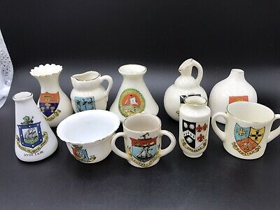 Joblot Of 10 Crested China Pieces (712) • 14.99£