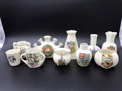 Joblot Of 10 Crested China Pieces (715) • 14.99£