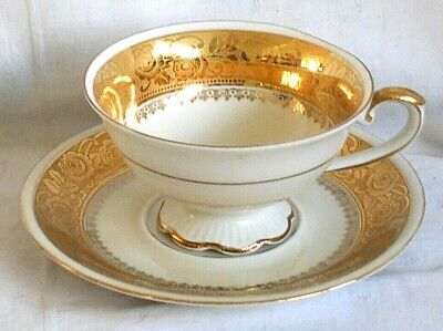 Late C19th Continental Gilded Cabinet Cup And Saucer  • 10£