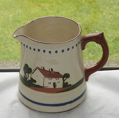 Vintage Dartmouth Pottery Large Motto Jug Holds One And Three Quarter Pints • 4£