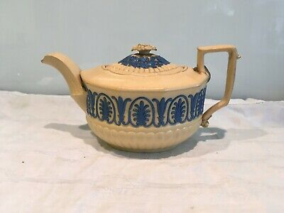 Rare  Antique Wedgwood Drab Ware Jasper Ware Teapot By Avery & Allen • 35£