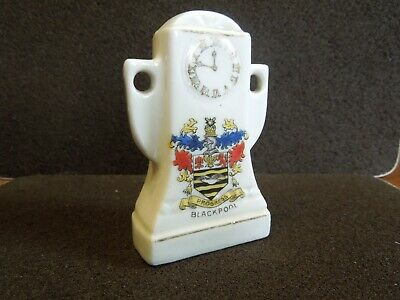 Crested Ware Blackpool Coat Of Arms On A Mantle Clock  • 1.75£