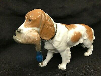 Rosenthal Hunting Dog With Duck - Germany • 120£