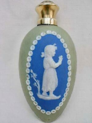 Fine Antique Jasper Ware Perfume Bottle With Silver Gilt Top Possibly Wedgewood. • 251£