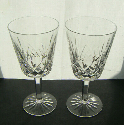 Waterford Vintage Lismore Water Goblets A Pair • 40£