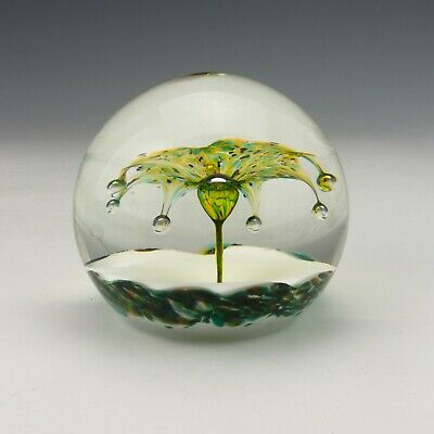Vintage Selkirk Scottish Glass Paperweight - Limelight 2000 - Lovely! • 14.99£