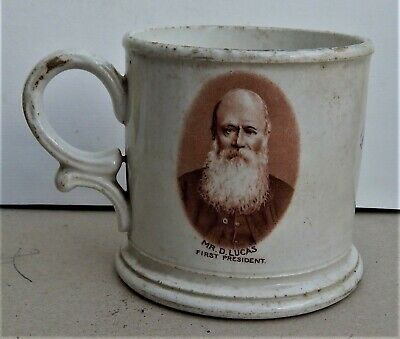 Stoneware Cws Longton Mug Commemorating Trowbridge Co-op Jubilee 1911 • 18£