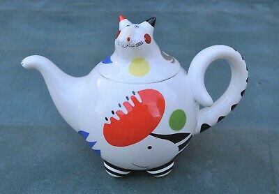 Villeroy & Boch Animal Park Signed Rosemary Benedikt  Cat 1.1 Litre Teapot  • 34.91£
