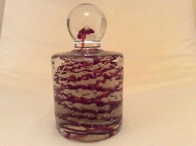 Cylindrical Controlled Bubble Swirl Paperweight • 14£