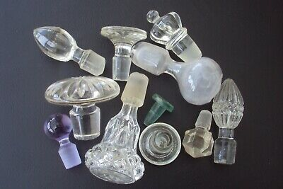 Job Lot Of Vintage & Some Old Glass Decanter Stoppers. • 7.50£