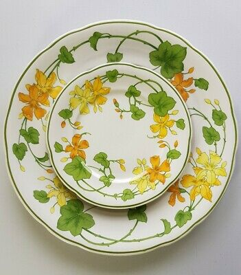 Villeroy & Boch Geranium 101/2  Dinner Plate And 6 1/2  Side Plate. • 8.60£