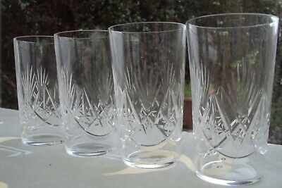 Set Of 4 Antique Cut Crystal Whiskey Tumblers Made Lead Crystal.  • 9.99£