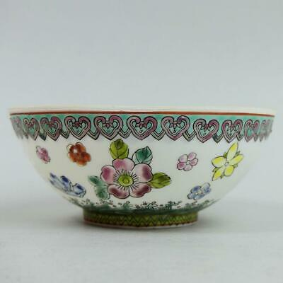 Antique Chinese Republic Period Famille Rose Egg Shell Porcelain Bowl • 9.99£