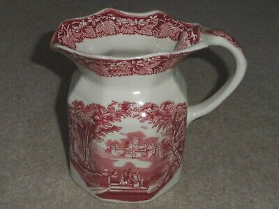 MASON'S VISTA RED / PINK LARGE FENTON JUG / PITCHER 14cm TALL - GREAT CONDITION! • 12.99£