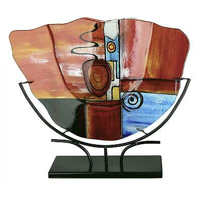 GIGANTIC 49cm Tribute To Picasso Art Glass Abstract Vase On Stand & Murano Label • 23£