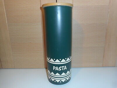 Rare Vintage Hornsea Inca Dark Green And White Pasta Jar • 20£
