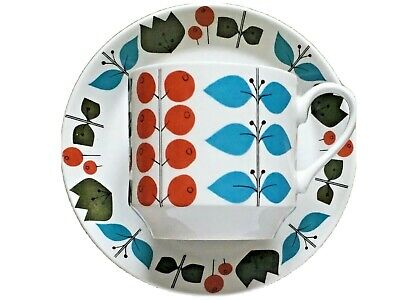 Midwinter Cherry Tree Coffee Cup & Saucer Nigel Wilde On Queensberry Shape 60s • 9.99£