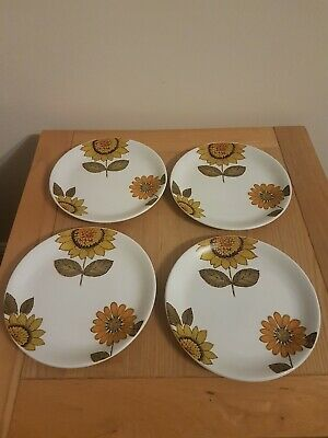 Alfred Meakin Glo-White Ironstone Sunflower 6.75  Side Plates • 5£