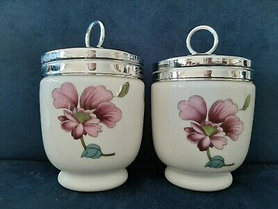 Royal Worcester 'Astley Pattern' King Sized Egg Coddlers (A Set Of Two) • 16.50£