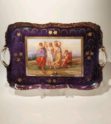 Antique  Serving Tray Probably Sevres Or Italian, Appr. 39x25cm • 74£