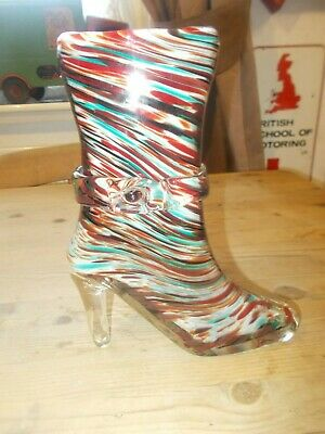 Vintage Murano Glass 9 Inch High Boot • 14.99£